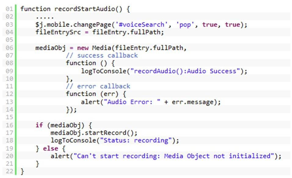 Speech recognition using Salesforce® Mobile SDK and the AT&