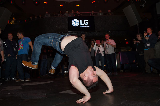 LG party breakdancing