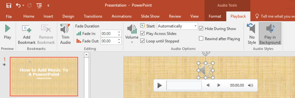 How to Add Music to PowerPoint - AT&T Developer